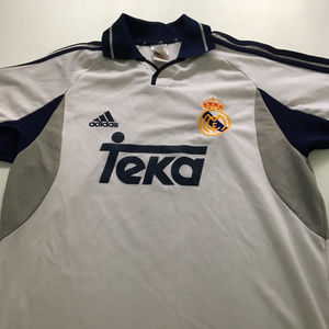 Vintage Real Madrid Jersey Teka Adidas Shirt S